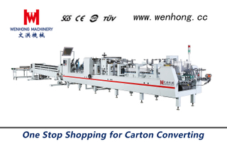 Automatic High Speed Folding and Gluing machine WH-650